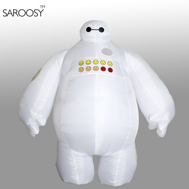Halloween Big Hero 6 Inflatable Baymax Costume for Women or Men Adult Fancy Suit Mascot Baymax 2m Large Mascot Cosplay