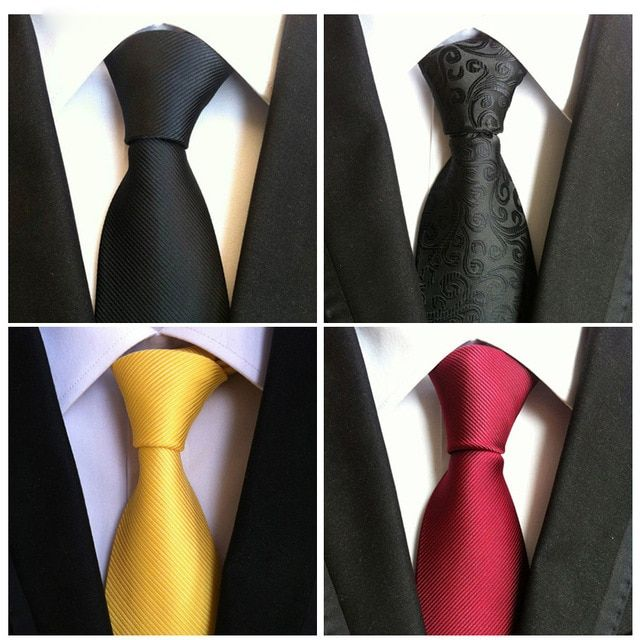 mens fashion ties black necktie clothing accessories Gravata hombre corbata Vestidos men tie Polyester silk tie handkerchief