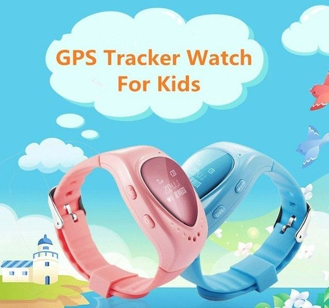 A6 Heart Oled Screen Smart GPS LBS Tracker Locater SOS Call Anti Lost Remote Monitor Watch for Kids Children IP54 Waterproof