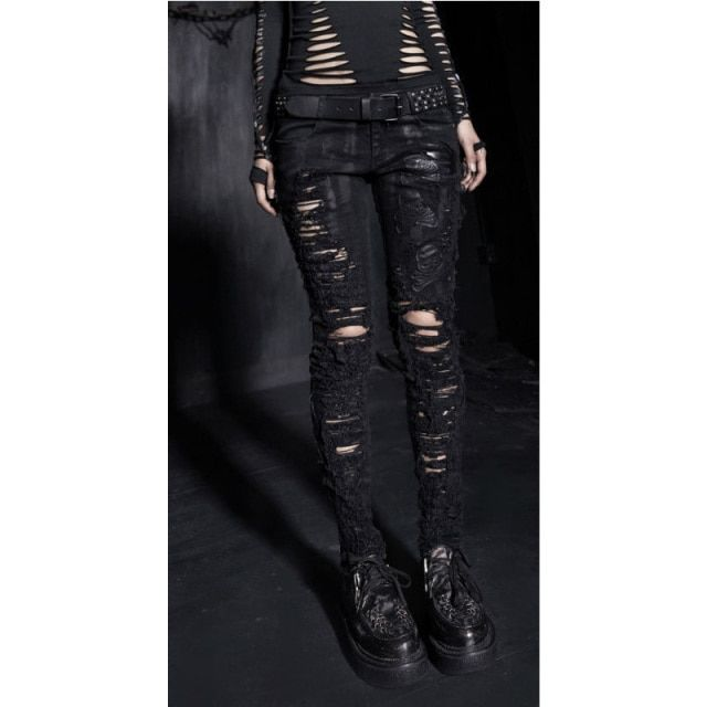 Hot Party clothing Gothic Fashion Women Pants Punk rave Black Hole design K141