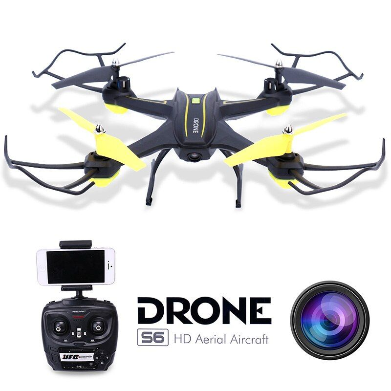 RC Quadcopter Drone with Camera HD 0.3MP 2MP WiFi FPV Camera Drone Remote Control Helicopter UFO Aerial Aircraft S6