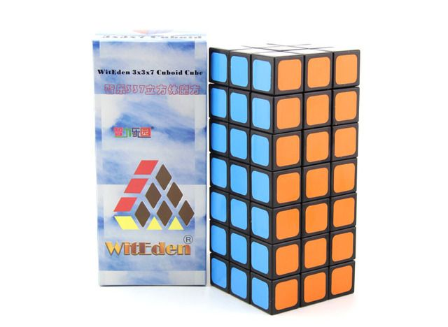 WitEden 3x3x7 Cuboid Cubo Magico Black  Cube Gift Idea Educational Toy  Drop Shipping