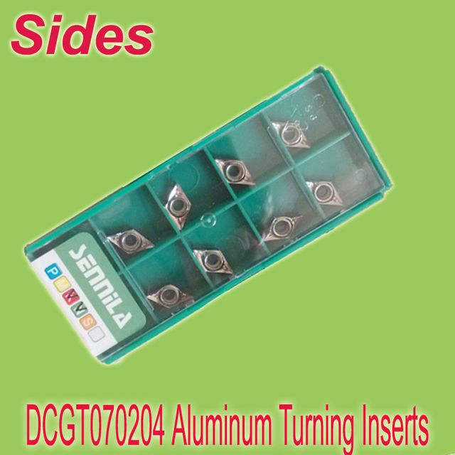 Free Shiping  10x DCGT070204  No Caoting Aluminum Alum Inserts Cutter Carbide Alloy for Lathe Holder SDJCR