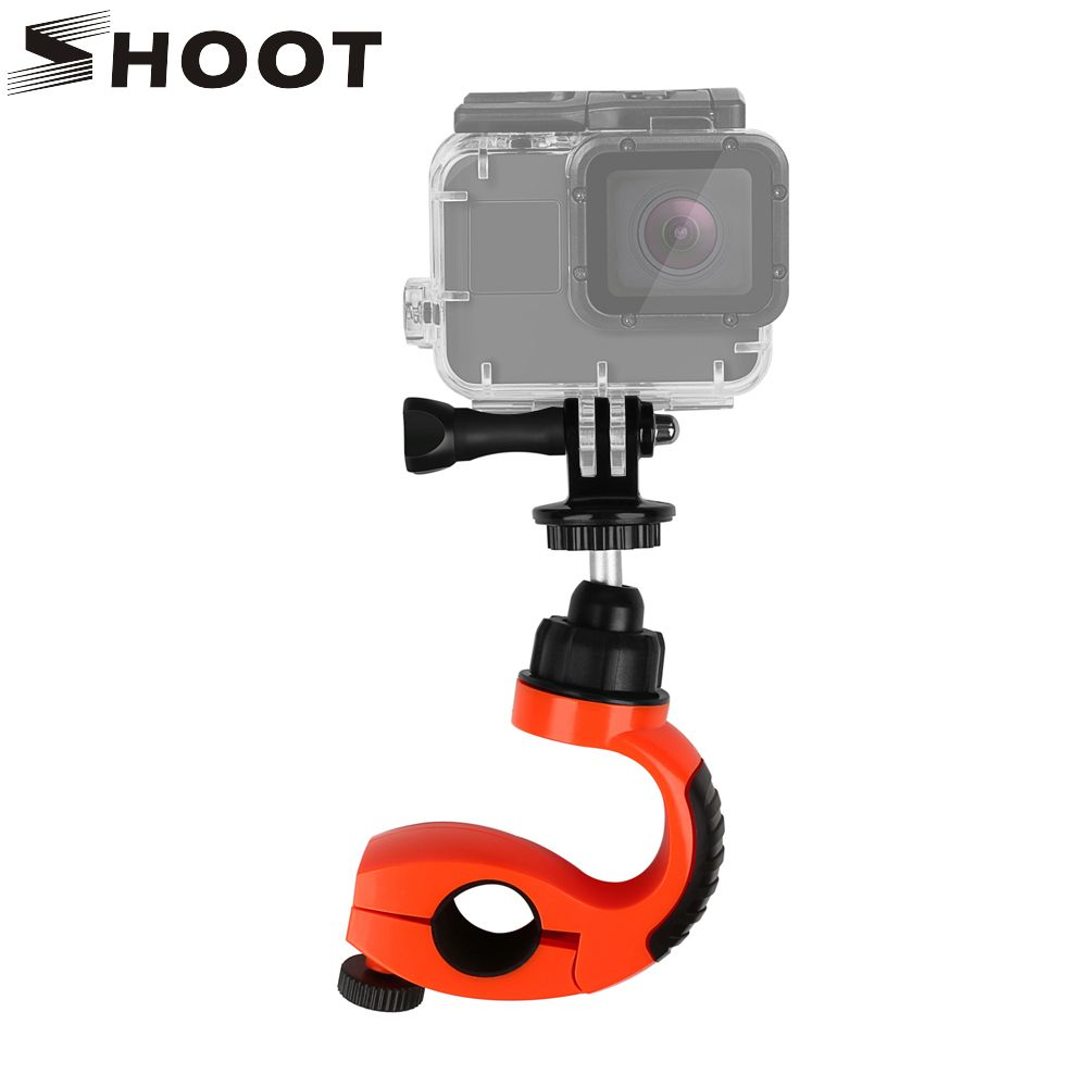 SHOOT Bike Bicycle Tripod Holder For Gopro Hero 8 7 5 Session Xiaomi Yi 4K SJCAM Cam with 360 Rotate Tripod Mount Heads Adapter