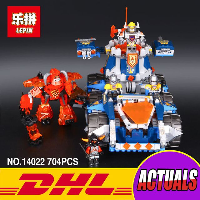 LEPIN 14022 Nexo Knights Axl Axls Tower Carrier Combination Marvel Building Blocks Kits Toys Compatible Nexus 70322