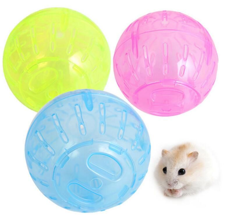 2016 Pet Rodent Mice Hamster Gerbil Rat Jogging Play Exercise Plastic Small Ball Toy random color only