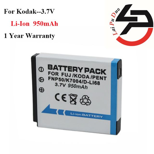 High Quality 1300mAh Brand New Replacement Battery For Kodak KLIC-7004 KLIC 7004 KLIC7004 K7004 NP-50 NP 50A D-LI68 D LI68 DLI68