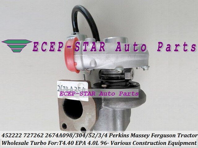 Free Ship GT2052S 727262-5002S 727262 2674A098 2674A304 Turbo For Perkin Various Construction Massey Ferguson Tractor T4.40 96-