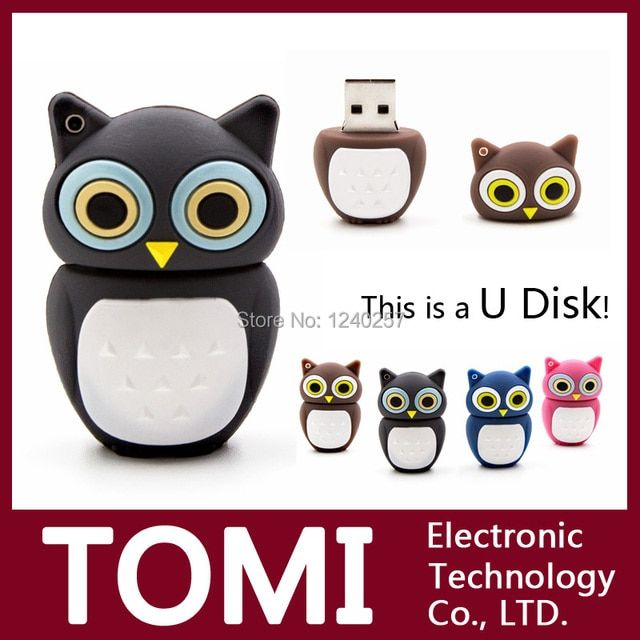 Garunk New Promotion Price Cartoon Owl Model 64GB USB Memory Stick 32GB USB Flash Drive 16GB Pen Drive 2GB 4GB 8GB Free Shipping