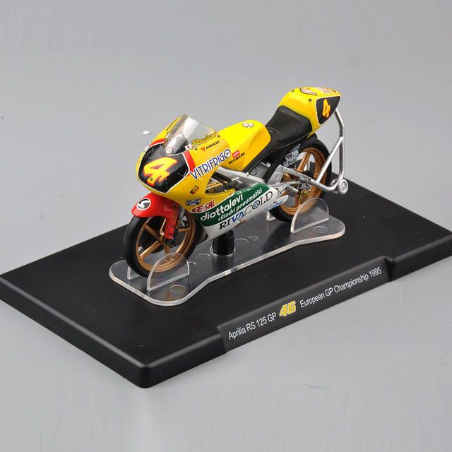 1/18 Scale Aprilia RS 125 GP 46# European GP Championship 1995 Motocycle Model Kids Gift Collection Gifts