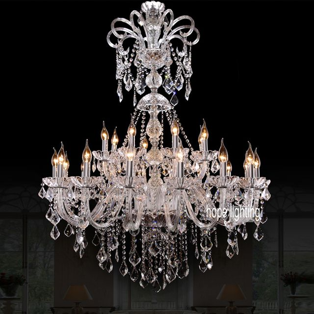 modern Crystal Chandeliers hotel hall chandelier lighting residential lighting LED candelabra lamps glass chandeliers bedroom