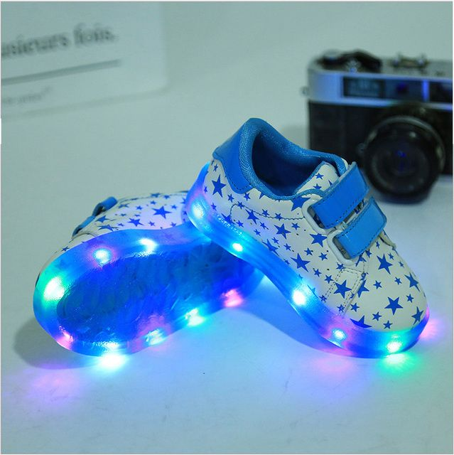 children led  shoe sneakers baby girl boy glowing little star shoe with light kids toddler zapatillas led kids light up shoes