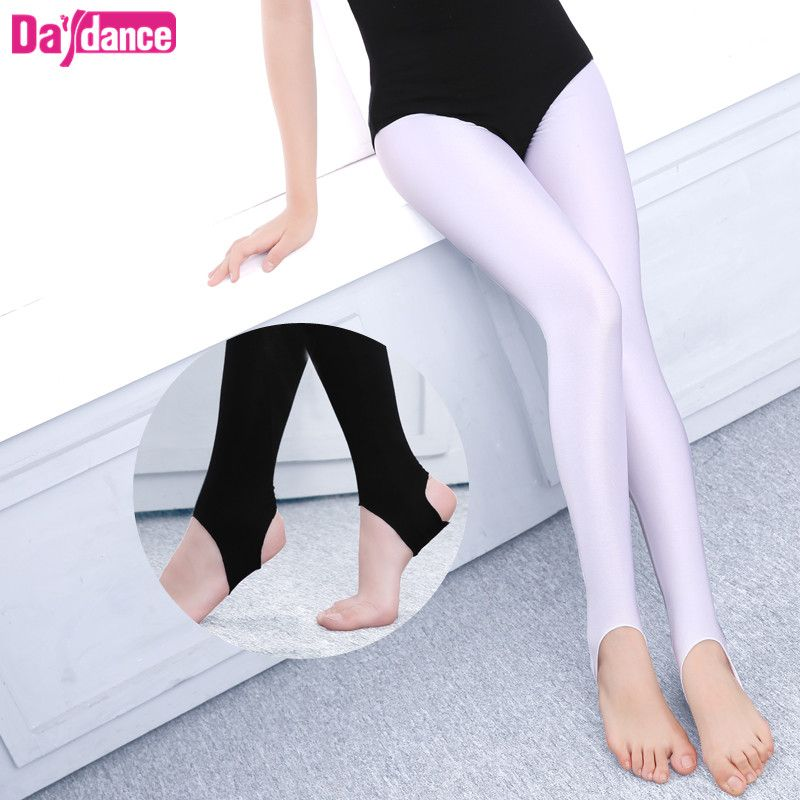 Girls Kids Ballet Stirrup Tights Pantyhose Child Dance Leggings Cotton Spandex Yoga Gymnastics Dance Pants