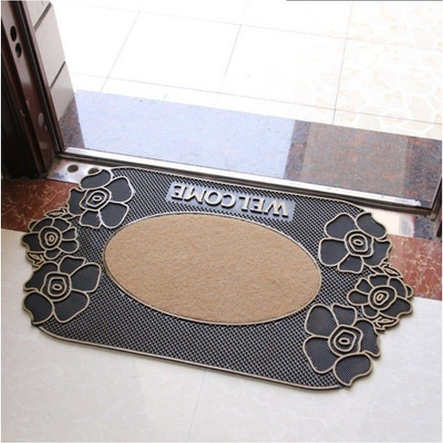 Europe Doormat Rubber Size 80x45CM Weight 1.8KG Hallway Parlor Rug Bathroom Mat Outdoor Welcome Carpet Home Decorate fur tapete