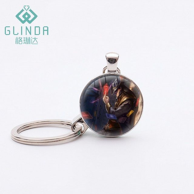 GLINDA Fashion Popular Online Games League of Legend Keychain Hot Game league of legends figure MasterYi keychain LOL Keychains