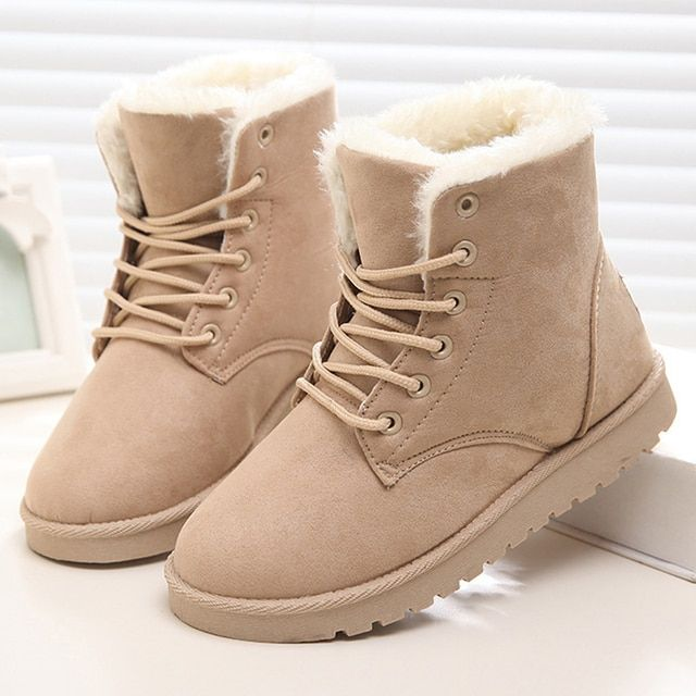 Women Boots 2016 Warm Snow Boots Fashion Ankle Winter Boots For Women Shoes Plus Size 41 42
