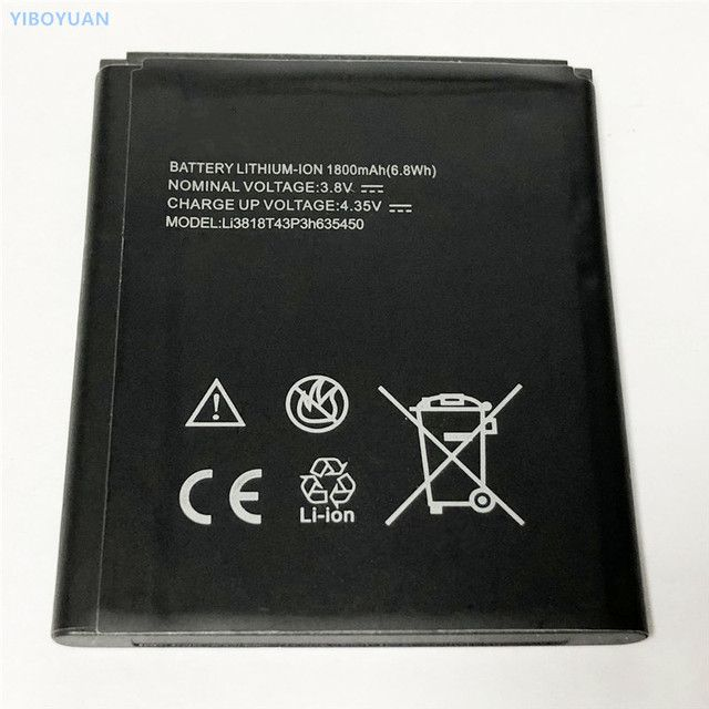 3.8V 1800mAh Li3818T43P3h635450 For ZTE Obsidian Z820 Battery