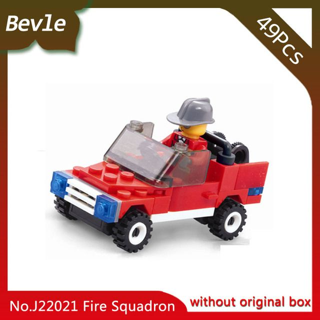 Doinbby Store  22021 49Pcs Fire Series Special Fire Truck Building Mini Blocks set Bricks For Children Toys jie Star Gift