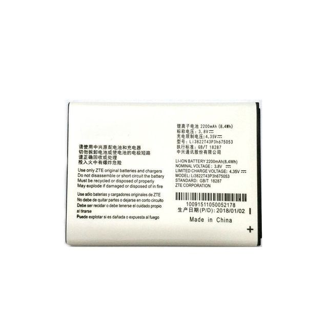 2018 New Li3822T43P3h675053 2200mAh Battery Replacement For ZTE Blade QLux Q Lux A430 Beeline Pro phone