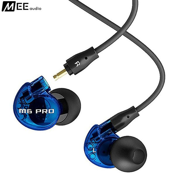 24 hours shipping Original Blue MEE audio M6 PRO Universal-Fit Noise-Isolating Earphones Music In-Ear Monitors headset With Mic