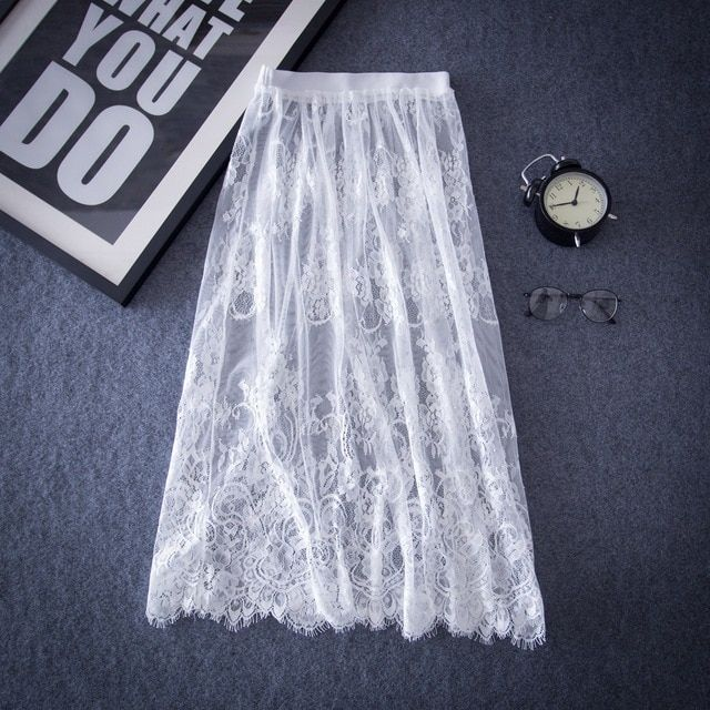 The new spring body length Eugen lace openwork backing yarn self-cultivation and thin gauze