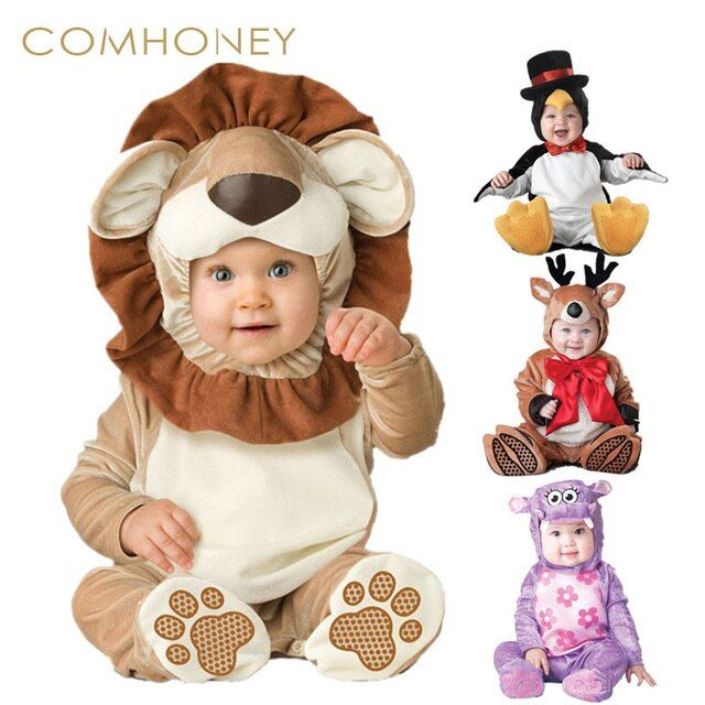 Baby Footies Funny Animals Baby Onesie Boys Girls Jumpsuits Infant Overalls Kids Cute Outfits Baby Photograph Costume Party Suit