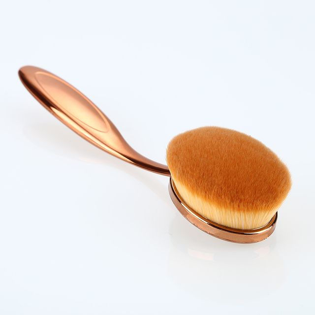 Rose Gold Color Single Makeup Brushes Tooth Brush Shape Oval Cosmetic Brush Foundation Powder Eyeshadow Contour Lip Make Up