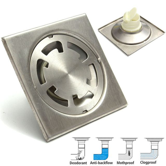 New Arrival High Quality Square Stainless Steel Bathroom Anti-odor Floor Drain Shower Water Strainer