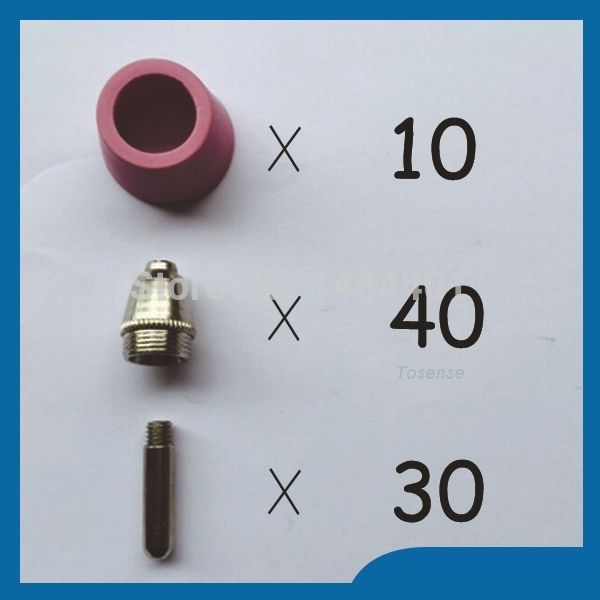 Happy shopping SG 55 & AG 60 Plasma Cutting Cutter Torch Accessories KIT Feel good Plasma Nozzles TIPS 1.2mm 60Amp,80PK