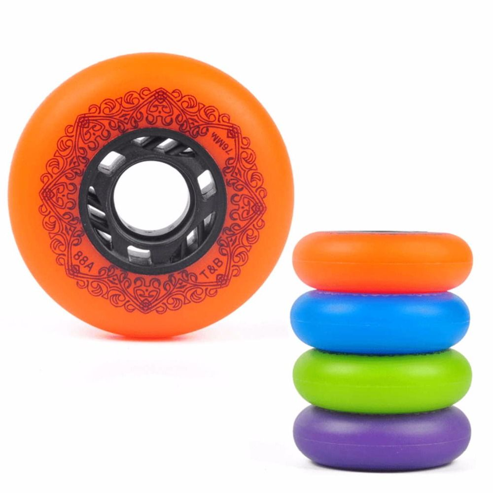 4 Piece Quality 88A Sliding Inline Skates Wheels  72/76/80mm  FSK Roller Blade Rodas For Wave board caster board street surf