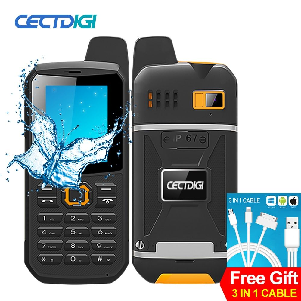 Original CECTDIGI F8 Walkie Talkie Mobile Phone 2.4inch IP67 Waterproof Shockproof Power Bank Flashlight 2G Camera Rugged Phone