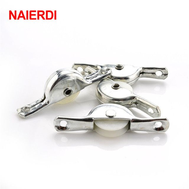 NAIERDI 10PCS Sliding Door Roller Cabinet Nylon Caster Wheel Pulley For Wardrobe Furniture Hardware