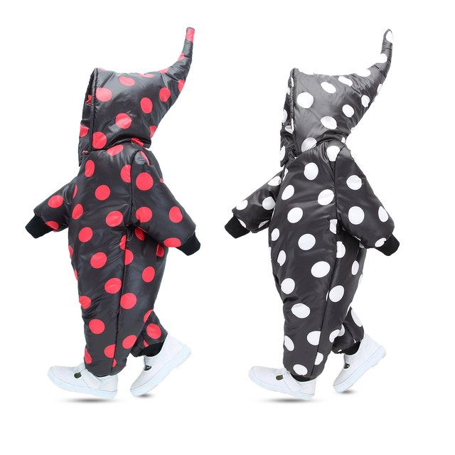 2018 hot baby jumpsuit winter rompers novelty baby girls romper casual warm boys rompers newborn kids snowsuit hooded overalls