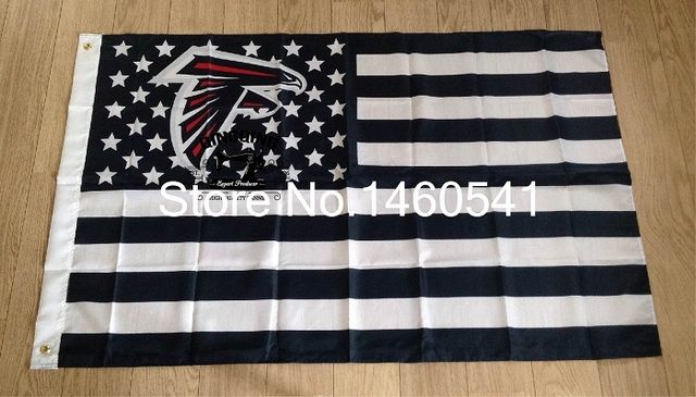 Atlanta Falcons with modified US Flag 3ft x 5ft Polyester NFL Banner Flying Size No.4 144* 96cm QingQing Flag