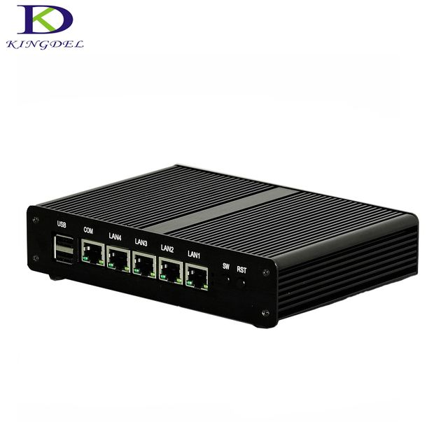 Best price intel Celeron J1900 Quad Core VGA 4*LAN mini PC Firewall Multi-function Router Network Security Desktop