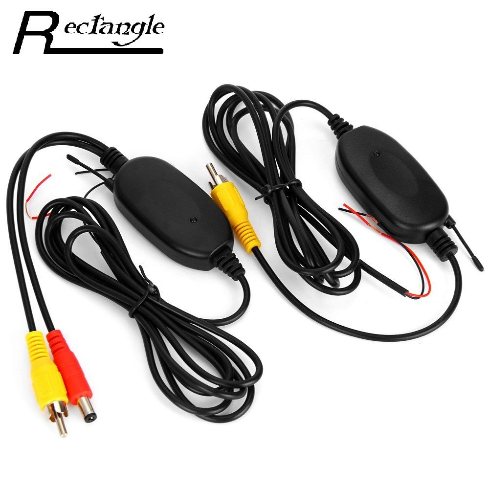2.4Ghz Wireless Car RCA Video Transmitter Receiver  Kit for Rear View Camera Car DVD Player Monitor Color Video Transmitter