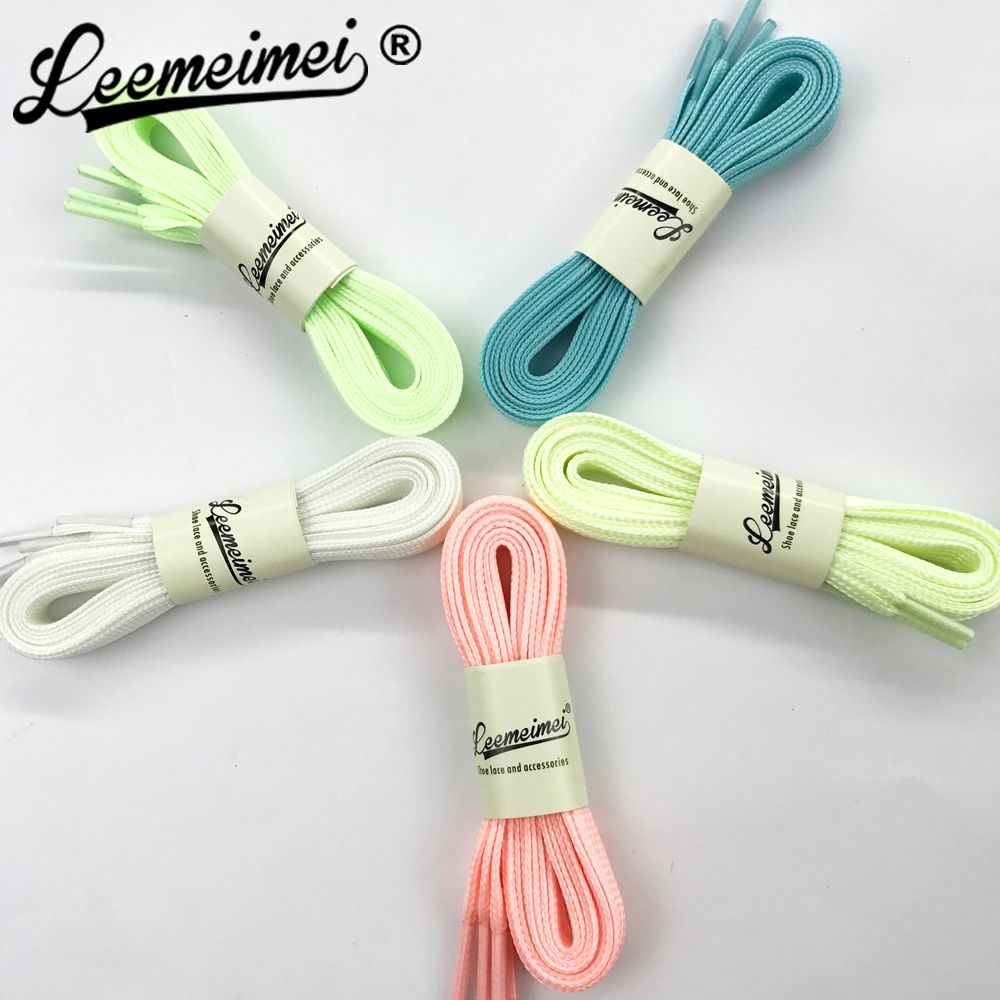10 PAIRS=20PCS 100CM men women shoelaces Creative Fashion All-match Luminous Shoelaces Uni-sex Laces Shoelaces Strings
