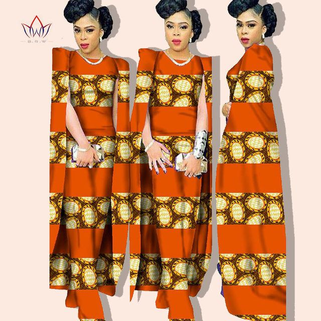 2016 Autumn Women Jumpsuit African wax Print Dashiki Bazin Riche fabric jumpsuit Bat sleeve Elegant Plus Size clothing BRW WY102