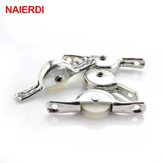 10PCS NAIERDI Sliding Door Roller Cabinet Nylon Caster Wheel Pulley For Wardrobe Furniture Hardware