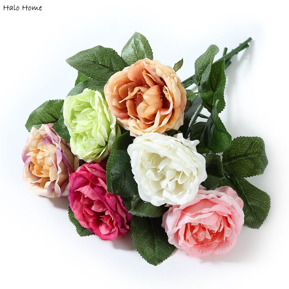 1 Pcs Artificial Flower Rose bouquet fit Decoration Party Home Garden Wedding Top Quality Perception of reality