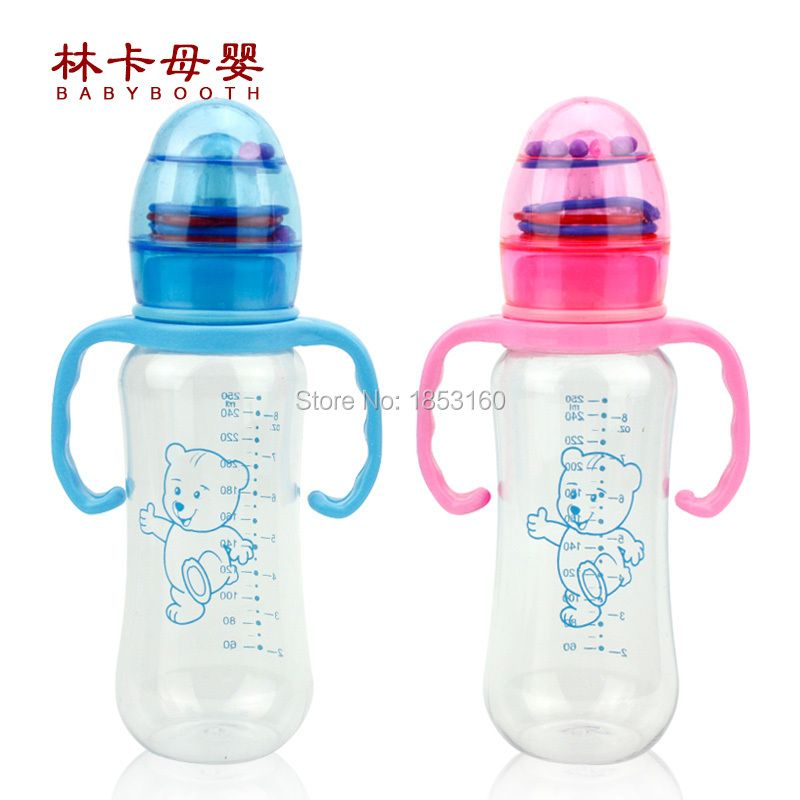 Free Shipping 250ml Big Volumn Pc Baby Feeding Bottle With Standard Neck Baby Milk Bottle