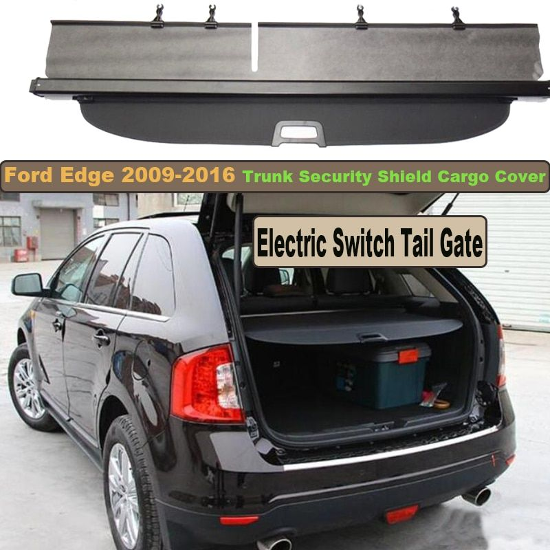 Car Rear Trunk Security Shield Cargo Cover For Ford Edge 2009-2016 Electric Switch Tail Gate SHELF SHADE TRUNK RETRACTABLE