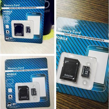 Hot selling micro TF card memory card with retail package 4-128GB  TF card for cell phone with adapter Real capacity BT9