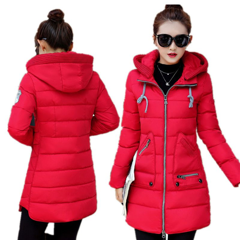 New Arrival Down Wadded Jackets Female Winter Women's Jacket Large Size Casual Coat Parkas Hooded Long Down Cotton Coat  C1113