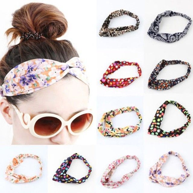 1PC Vogue Yoga Hair Band Summer Style Elastic Turban Floral Twisted Knotted Headband Hair Accessory Women Fashion Hot Sale