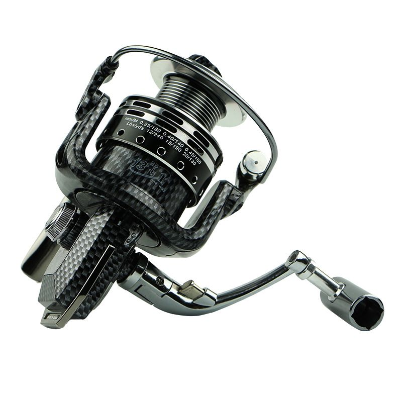 Spinning Fishing Reel 5.1:1 13+1BB Without Gaps All-Aluminum Body Fishing Reel Wheel Series 1000 2000 3000 4000 5000 6000 7000