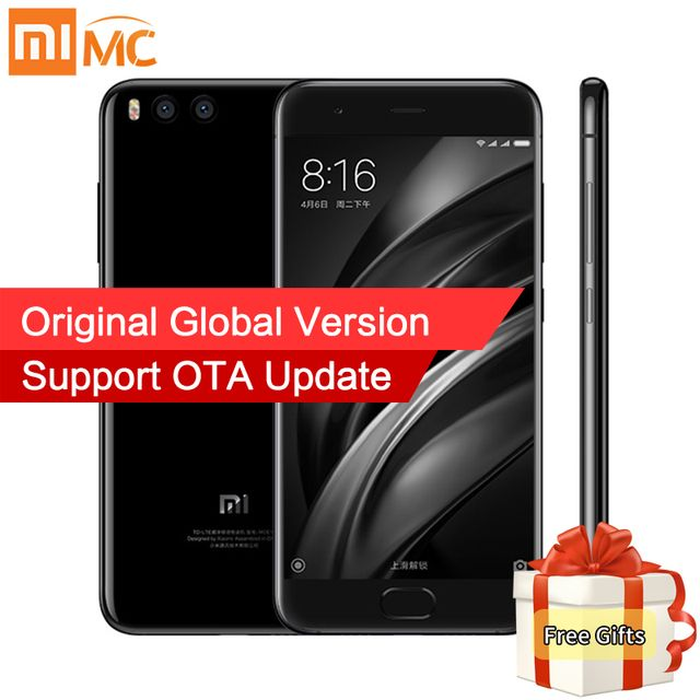 Global Version Xiaomi Mi6 Mi 6 Mobile Phone 6GB RAM 64GB ROM Snapdragon 835 Octa Core 5.15'' Dual Cameras NFC Android 7.1