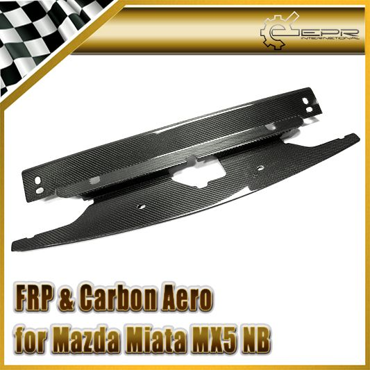 Car-styling Carbon Fiber Radiator Cooling Panel Glossy Fibre Finish Engine Accessories Body Kit Trim Fit For Mazda MX5 NB Style