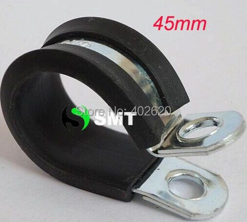 free shipping 50pcs/lots 45mm hose  Insulated Clamps P-Clamp Silicon, Fuel Pipe, plastic type hose clamp with steel clamp