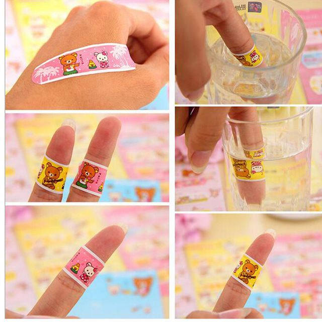 50pcs medical waterproof paste bandage Band Aid hemostasis Sticker Baby Kids Care First Aid Travel Camping Emergency Kit C653